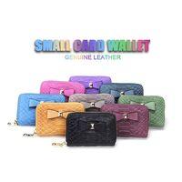 Womens Zip Around Genuine Leather Credit Card Holder case Wallet Organizer Coin Purse snake pattern