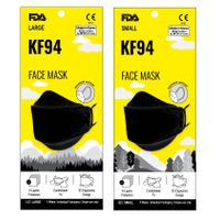 NEW KF94 FDA CE FFP2 ISO 9001 14001 4-Ply Disposable Medical Surgical Black 4-Layers Face Mask Korea