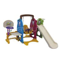 Small playground plastic slide with swing set for kids FY826405 thumbnail image