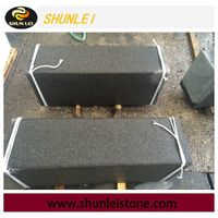 Flamed black granite, granite paving stone