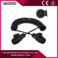 13 core trailer cable XZRT005/retractable spring cable 12v
