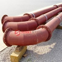 Steel plant 95% alumina ceramic lined elbow