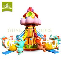 Amusement Game Machine Funfair Kids Rides Candy Mice Rotary Plane
