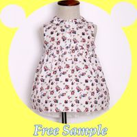 Latest dress design for kids floral print frocks little girls wear