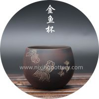 Chinese Qinzhou Nixing Pottery Handmade Tea Cup Goldfish Cup Kungfu Tea Large Tea Cup thumbnail image
