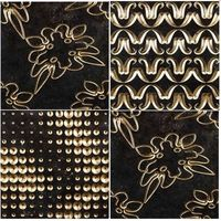 3D moulding wall tiles, gold plated, trendy design, interior decoration