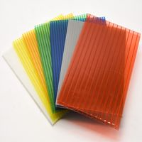 Cheap clear color bayer greenhouse roof 8mm 10mm hollow polycarbonate sheet thumbnail image