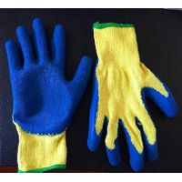 Wrinkle latex coated gloves