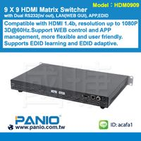 4K 9 X 9 HDMI Matrix Switcher with RS232/APP/TCPIP