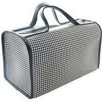 duffle travel houndstooth luggage bag thumbnail image
