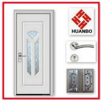 Indian Wooden Glass mdf pvc Doors with White pvc Film