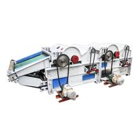 Four feed roller waste textile opening machine