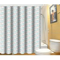 Square design high quality 100% polyester shower curtain