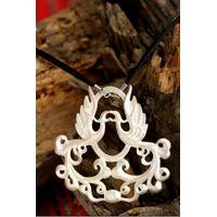 handmade phoenix pendant in sterling silver