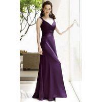 Column Straps Floor Length Chiffon Bridesmaid / Evening Dress thumbnail image