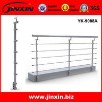 Stainless steel indoor stair or balcony grab railing/ handrail with cable YK-9088A