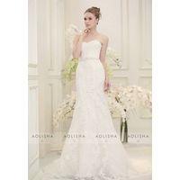 Sweetheart mermaid lace wedding dress with sweep train thumbnail image