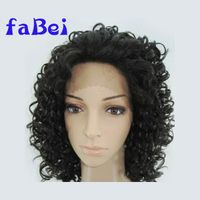 Quality 100% Indian Remy Human Hair Italian Yaki Straight Full Lace Wig, Stock Wig thumbnail image