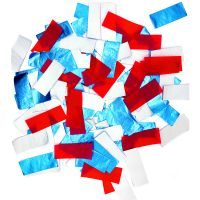 patent new products SHINY BLUE+WHITE+RED SLIPS 100% biodegradablefor confetti popper thumbnail image