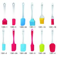 Different colorful types of silicone cake tools bread brush cake brush and butter scraper
