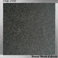 Flamed G684 black granite