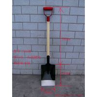wooden handle shovel with D grip