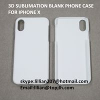 3d sublimation heat press printing phone case for iphone X case thumbnail image