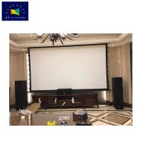 100 inch 16:9 excellent sound transparent 4k 3d laser projection screen for home thumbnail image