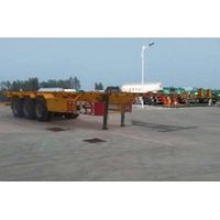 XHS9400TWY Type Streight Beam Flatbed Semi-trailer For Pot or Box of Dangerous Goods