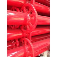 Ringlock Scaffolding Vertical with Red Painted Surface Finish