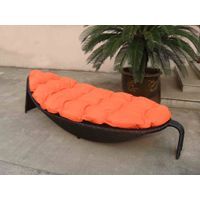 nice delicated rattan leaf shaped sunbed&rattan beach chaise lounge for sale