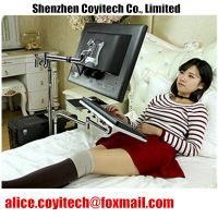 Adjustable portable computer desk stand for bed