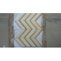 mosaic tile white marble honey onyx polished mosaic