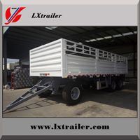 Customize BPW axles cargo transport fence full truck trailer