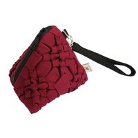 Pouch bags Pyramid form with zip fastening on top Spring floral design