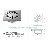 Water-closed shower drainer