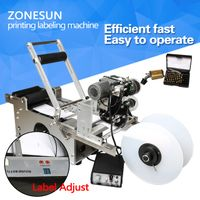 ZONESUN LT-50D Semi automatic labeling machine,medicine bottle labeling machine with date printer
