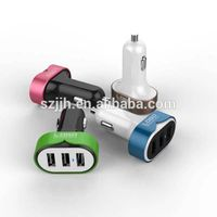 Emergency car battery charger 4400MA triple usb car charger