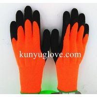 10 guage Winter use nappy/ brushed liner acrylic Crinkle finish latex glove thumbnail image