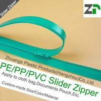 PE slider zipper