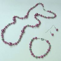 Vintage artificail pearl fahion jewelry set