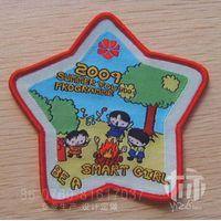 customized woven badges for kids garment thumbnail image