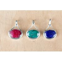 Wholesale 925 Sterling Silver Beautiful Gemstone Pendant
