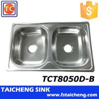800x500mm Size Sound Deadening Pads Sink with 201 material,polish finish sink