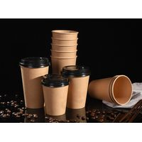 Gooline paper cup customized logo printing soybean milk cup with cover coffee cup