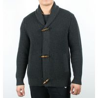 Heavey Weight Fine Knit Oversized Men Shawl Collar Cardigan thumbnail image