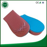 Personalized design eva memory foam half increasing insole
