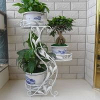 wrought iron flower stands