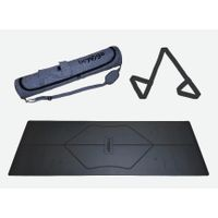 eco-frinedly natural rubber PU yoga mat with customized alignment line thumbnail image