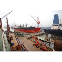 Near the port of Dalian Shipyard and most expensive ship repair company